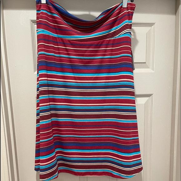 LulaRoe Azure skirt stripes 2XL NWT